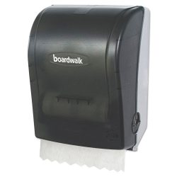 Boardwalk® Hands Free Mechanical Towel Dispenser, 9 3/4 x 16 7/8 x 12 3/8, Smoke Black