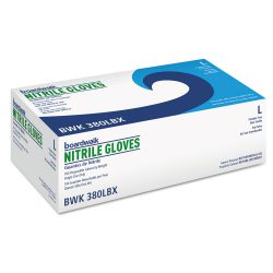 Boardwalk® Disposable General-Purpose Nitrile Gloves, Large, Blue, 100/Box