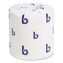 Boardwalk® Two-Ply Toilet Tissue, Septic Safe, White, 4.5 x 3, 500 Sheets/Roll, 96 Rolls/Carton